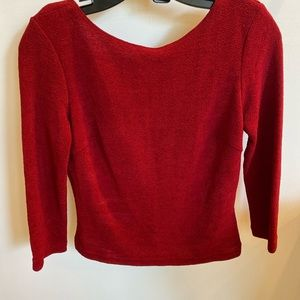 X.O.X.O Red 3/4 sleeve woman's top size M